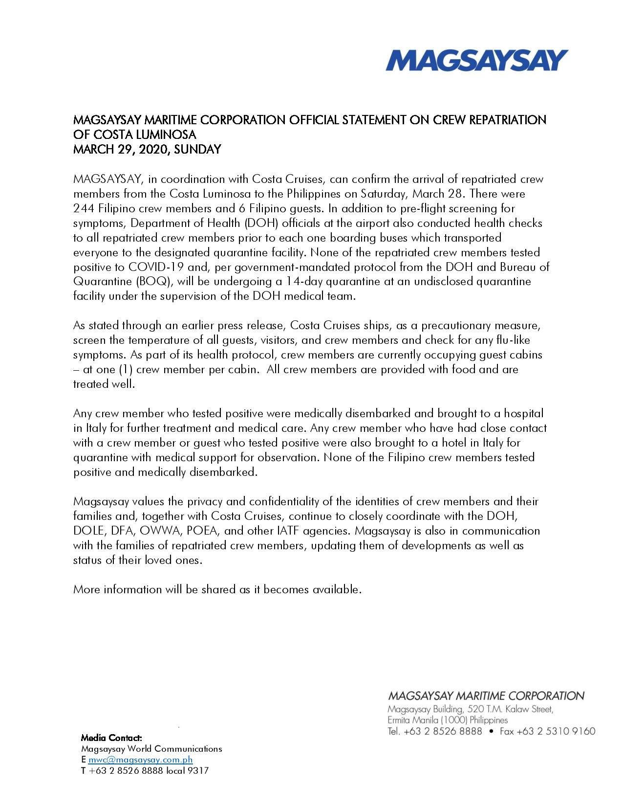 Official Updates of Magsaysay on Crew Repatriation of Costa Luminosa - March 29-page-001.jpg
