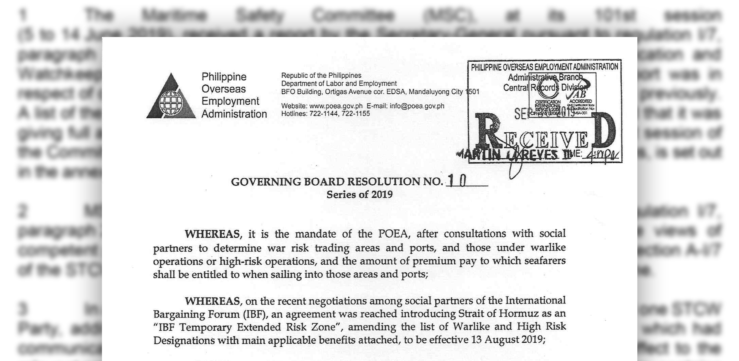 News   POEA Issues New Guidelines, Adopts IBF List